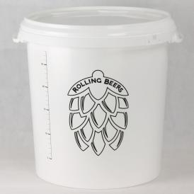 Bucket white 30 l with lid