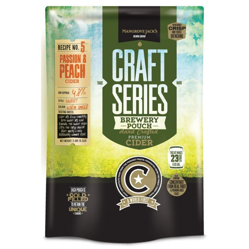 Peach and Passionfruit Cider Pouch