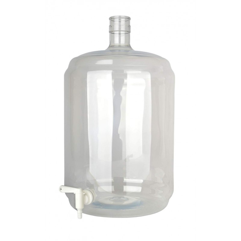 Carboy PET 23 litres with tap 5/16-7/16
