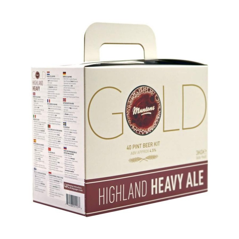 Kit de bière Muntons Gold Highland heavy ale 3 kg