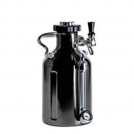 GrowlerWerks uKeg™ 64 chromé noir - 1,9 l