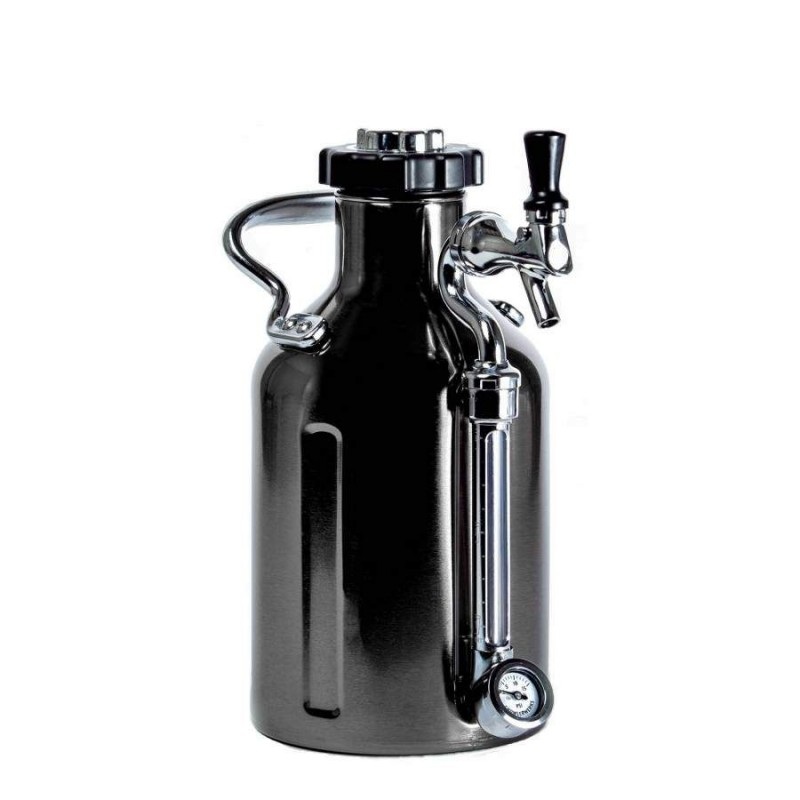 GrowlerWerks uKeg™ 64 black chrome - 1.9 l