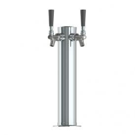 3″ Column Tower – 2 Faucet with 100% SS Contact – SS Polished – Air Cooled