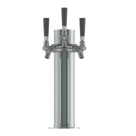 3″ Column Tower – 3 Faucets – SS Polished – Air Cooled